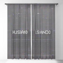HUSBANDO Sheer Curtain