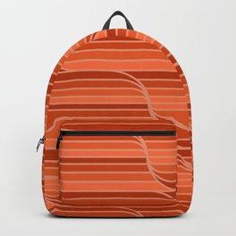 Geo Stripes - Rust Orange Backpack