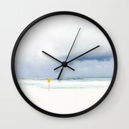 Beach closed Wall Clock