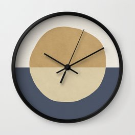 Horizon Abstract - Gold Wall Clock