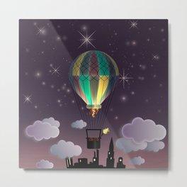 Balloon Aeronautics Night Metal Print
