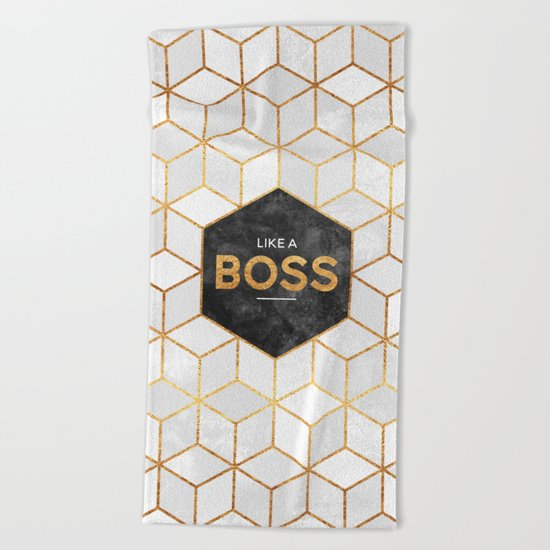 Like a boss Beach Towel