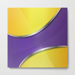 Metallic violet pattern 180415 Metal Print