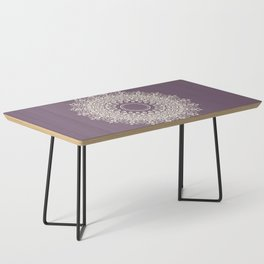Mandala in Mulberry and White Coffee Table
