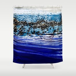 ...blurred line of horizons Shower Curtain