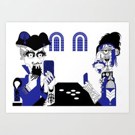 The Queen of Spades - The Card Table Art Print