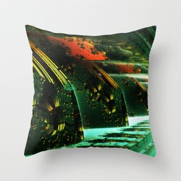 Cannon Battery (Pixel Explosion) Throw Pillow