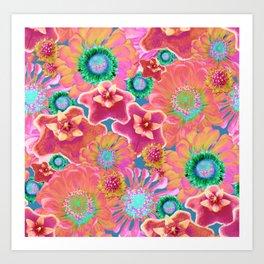 Luminous Floral Art Print