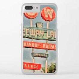 Freeway Lanes Bowl - Selma, CA Clear iPhone Case