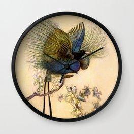 """The Beautiful Bird of Paradise"" Art by Warwick Goble Wall Clock"