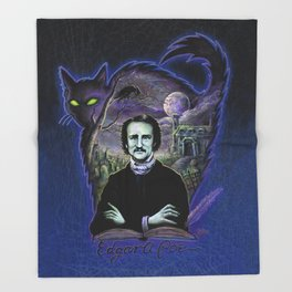 Edgar Allan Poe Gothic Throw Blanket