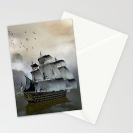 Old Sail Ship Stationery Cards