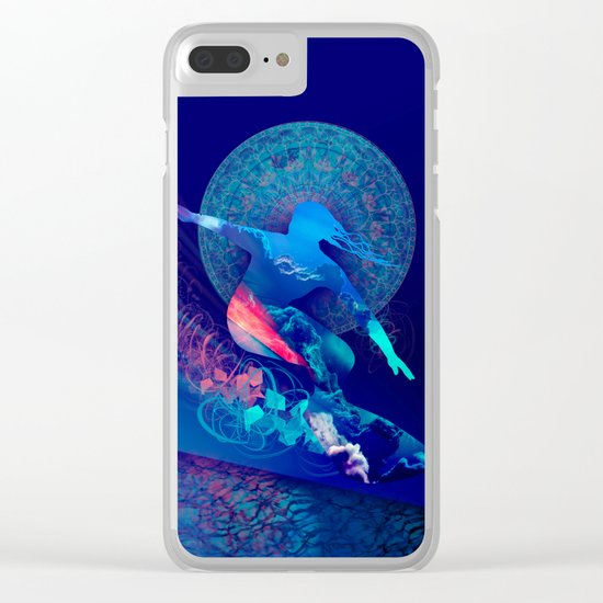 sky surfer Clear iPhone Case