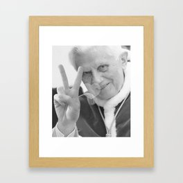 Pope Benedict Peace'n'Love Framed Art Print