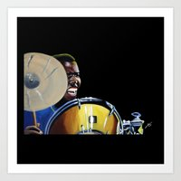 jazz Art Prints featuring Jazz by ink0023