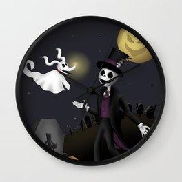 Skeletons Best Friend  Wall Clock