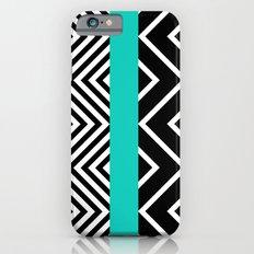 geometric in blue iPhone 6s Slim Case