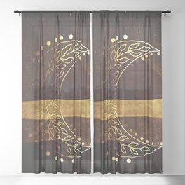 Earth Moon Mama V3 Sheer Curtain