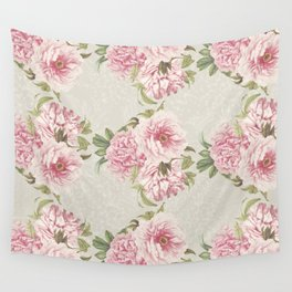 pink peony pattern Wall Tapestry