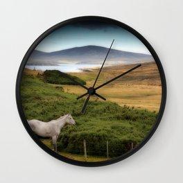 Two horses at San Carlos Wall Clock