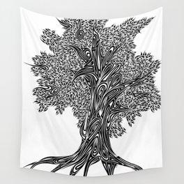Gnarled Oak Tree Wall Tapestry