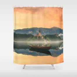 Golden Getaway Shower Curtain