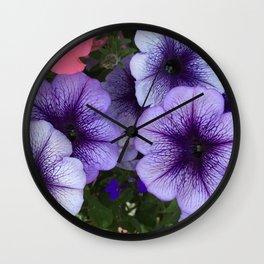 Purple Petunias Wall Clock
