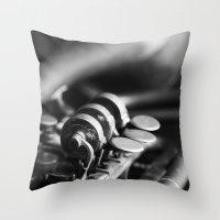 trumpet Throw Pillows featuring Trumpet by Falko Follert Art-FF77