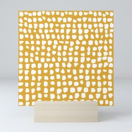 Dots / Mustard Mini Art Print