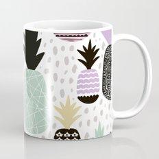Summer pineapples in pastel color pop Mug