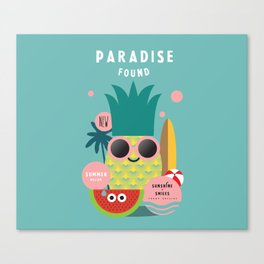 Summer paradise found Canvas Print