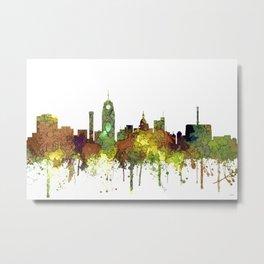 Lansing, Michigan Skyline - Safari Buff Metal Print
