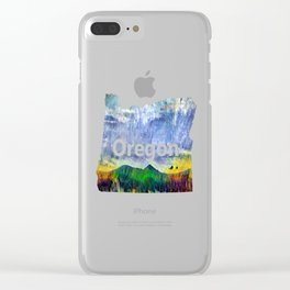 From Sunriver: Mt. Bachelor (Salt Watercolor) Clear iPhone Case