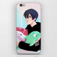 iwatobi iPhone & iPod Skins featuring plushies by JohannaTheMad