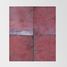 4 red wooden blocks Throw Blanket