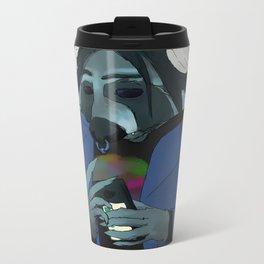 Raccoon self-portrait Metal Travel Mug