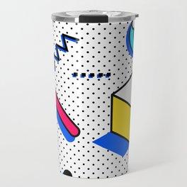 Patern in memphis, pop art style Travel Mug
