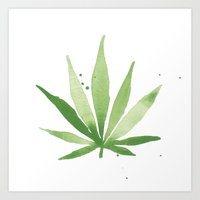 cannabis Art Prints featuring Cannabis  by THE AESTATE