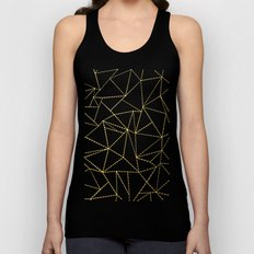 Ab Dotted Gold Unisex Tank Top