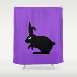 Angry Animals: Bunny Shower Curtain