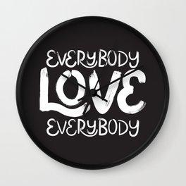 ELE: Everybody Love Everybody Wall Clock