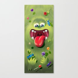 Furry Sweet Eater Canvas Print