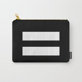 Equal Sign (White & Black) Carry-All Pouch