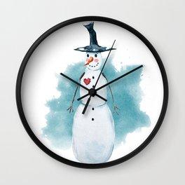 Thin Snowman Wall Clock