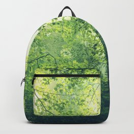 unreal green - hazy summer forest Backpack