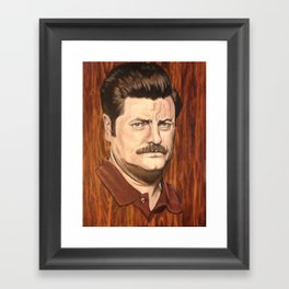 Ron F***ing Swanson Framed Art Print