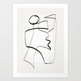 Abstract line art 6 Art Print