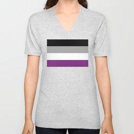 Asexual Flag Unisex V-Neck