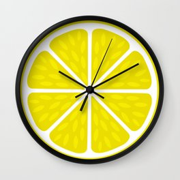 Fresh juicy lime- Lemon cut sliced section Wall Clock