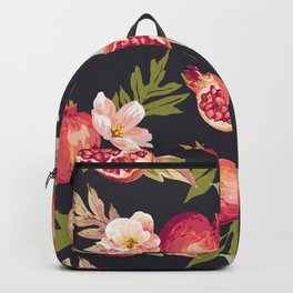 Pomegranate patterns - floral roses fruit nature elegant pattern Backpack